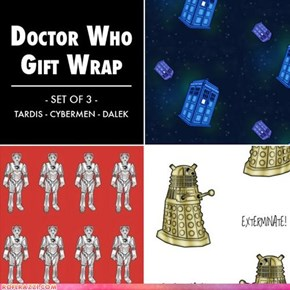 Doctor Who Gift Wrapping Paper!