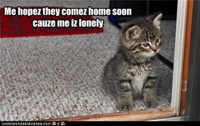 Me hopez they comez home soon  cauze me iz lonely