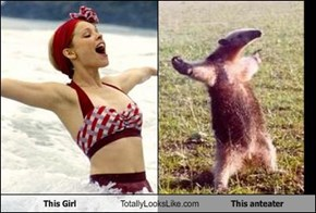 This Girl Totally Looks Like This anteater