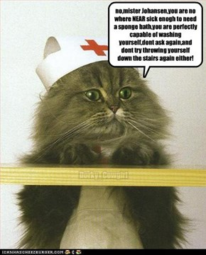 nurse kitteh say she duznt get payed enuff