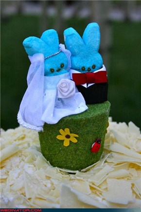 Peep cake topper