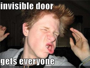 invisible door  gets everyone