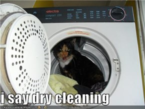 i say dry cleaning