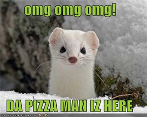 omg omg omg!  DA PIZZA MAN IZ HERE