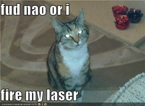 fud nao or i  fire my laser