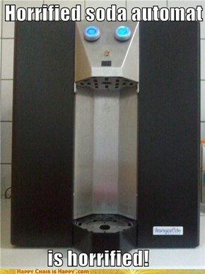 Horrified soda automat is horrified