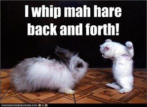 I whip mah hare  back and forth!