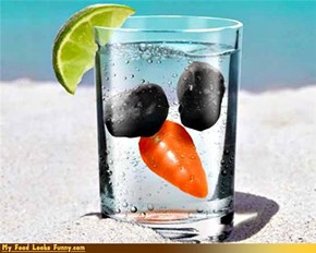 Funny Food Photos - Frosty the Snowman Ice Cubes