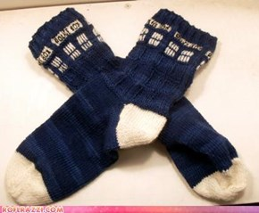 TARDIS Socks: I WANT THAT