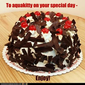 To aquakitty on your special day -
