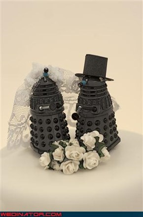 Dalek Cake Toppers...With Accessories!