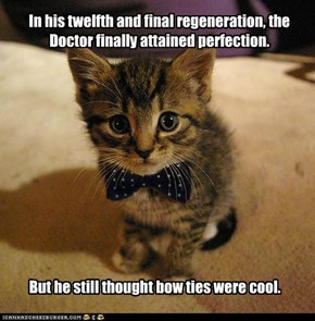 In his twelfth and final regeneration, the Doctor finally attained perfection.