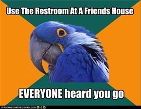 Paranoid Parrot: Restroom