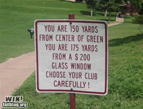 Golf Warning WIN