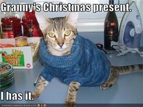 Granny's Christmas present.  I has it.