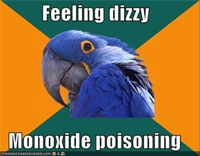 Feeling dizzy  Monoxide poisoning