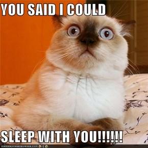 YOU SAID I COULD   SLEEP WITH YOU!!!!!!