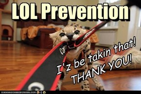 LOL Prevention I'z be takin that! THANK YOU!