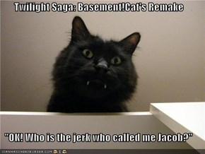 "Twilight Saga: Basement!Cat's Remake  ""OK! Who is the jerk who called me Jacob?"""