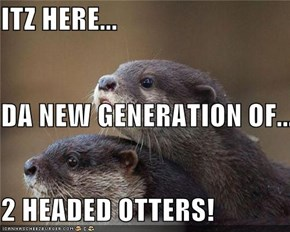 ITZ HERE... DA NEW GENERATION OF... 2 HEADED OTTERS!