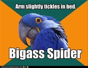 Arm slightly tickles in bed.