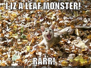 I IZ A LEAF MONSTER!  RARR!