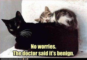 No worries.  The doctor said it's benign.
