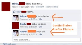 Funny...they both spelled Bieber Wrong