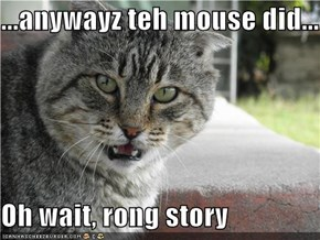 ...anywayz teh mouse did...  Oh wait, rong story