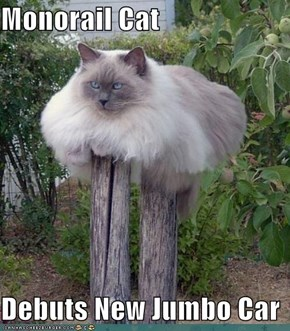 Monorail Cat  Debuts New Jumbo Car