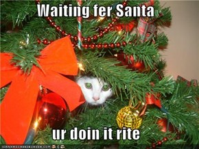 Waiting fer Santa  ur doin it rite