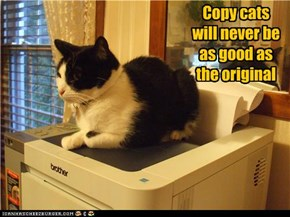 Copy cats will never be as good as the original
