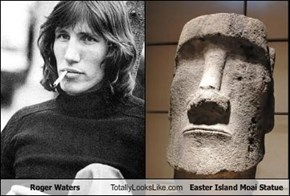 Roger Waters Totally Looks Like Easter Island Moai Statue