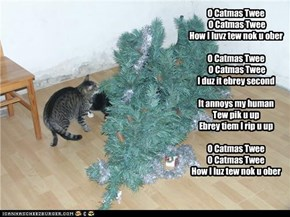 "Kitteh's version of ""O Christmas Tree"""