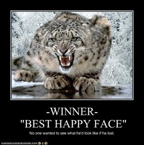 "-WINNER-  ""BEST HAPPY FACE"""