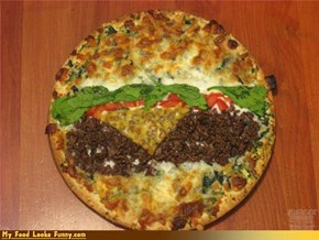 Funny Food Photos - Burger Pizza