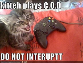 kitteh plays C.O.D  DO NOT INTERUPTT
