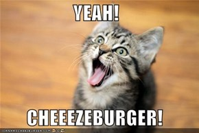 YEAH!  CHEEEZEBURGER!