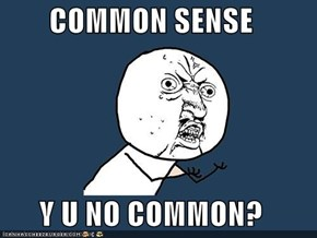 COMMON SENSE   Y U NO COMMON?