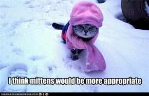 I think mittens would be more appropriate