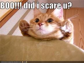 BOO!!! did i scare u?
