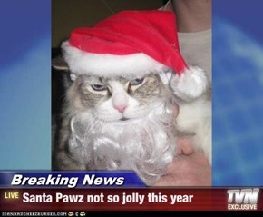 Breaking News - Santa Pawz not so jolly this year