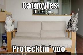 Catgoyles  Protecktin' yoo.