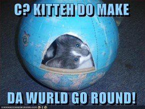 C? KITTEH DO MAKE     DA WURLD GO ROUND!