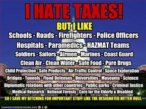 I HATE TAXES!