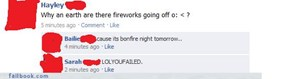 It's Bonfire night tomorrow?