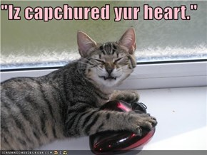 """Iz capchured yur heart."""