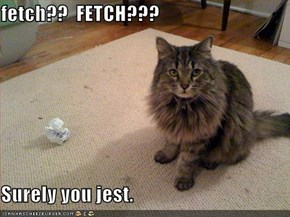 fetch??  FETCH???  Surely you jest.
