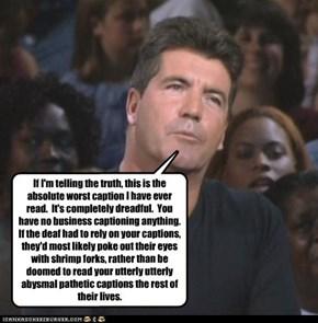 Simon's Caption Critique