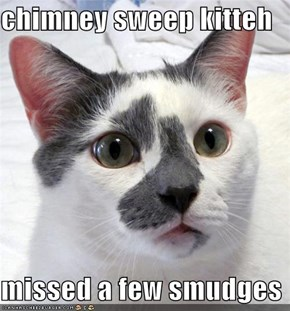 chimney sweep kitteh  missed a few smudges